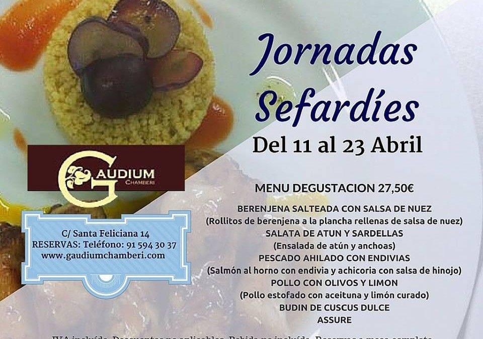 GAUDIUM. Una cita con la gastronomía sefardí