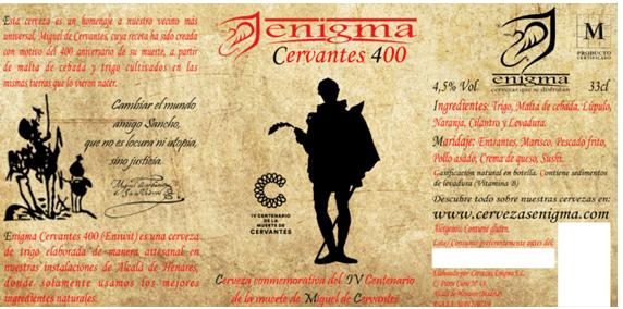ENIGMA CERVANTES 400. Una cerveza del Siglo de Oro