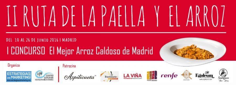 II RUTA DE LA PAELLA Y EL ARROZ. ¡Madrid al punto!