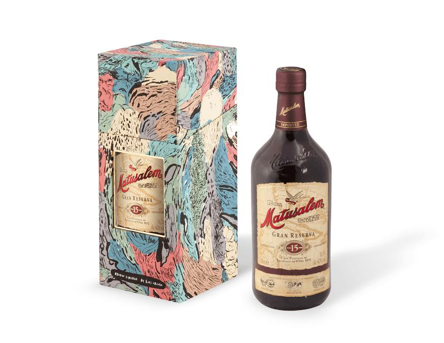RON MATUSALEM GRAN RESERVA 15. Una preciosa botella de Luis Úrculo para Navidad