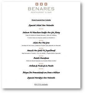 Menu Benares