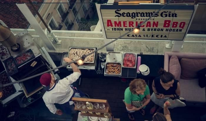 SEAGRAM'S NY at CASA SUECIA. Tocar el cielo de Madrid