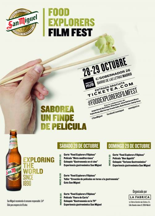 FOOD EXPLORERS FILM FEST by SAN MIGUEL. Cine y gastronomía en una armonía plena