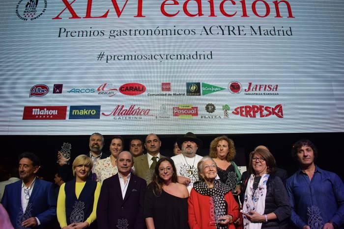 ACYRE MADRID. Entrega de los premios gastronómicos 2017