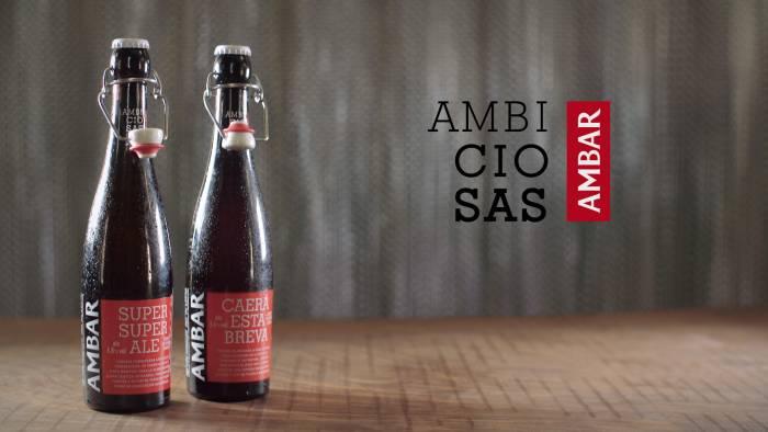 AMBAR. Las nuevas cervezas Ambiciosas llenas de audacia y sabor