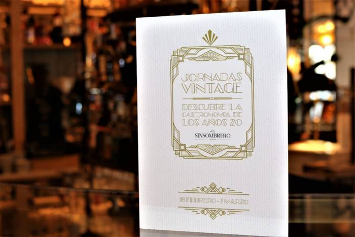 SINSOMBRERO. Un homenaje a la gastronomía de los Años 20